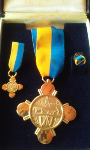Medalla Antigua Merito Al Trabajo En Su Primera Clase