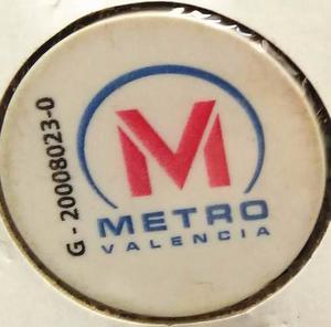 Muy Coleccionable Ficha Del Metro De Valencia / Difícil
