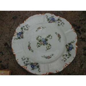 Plato De Porcelana Made In Italy Dibujo De Flores