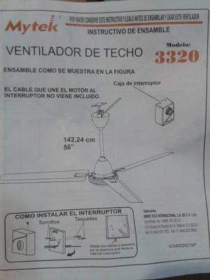 Ventilador De Techo Industrial 110v De 3 Aspas