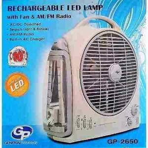 Ventilador Recargable Con Radio Am/fm Y Lampara Led Oferta!!