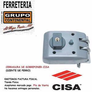 Cerradurra Cisa Cilindro Fijo C/pest C/bloqueo Original..