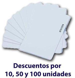 Tarjeta De Proximidad, 1 Und Blanca Pvc 125khz Rfid Sovica