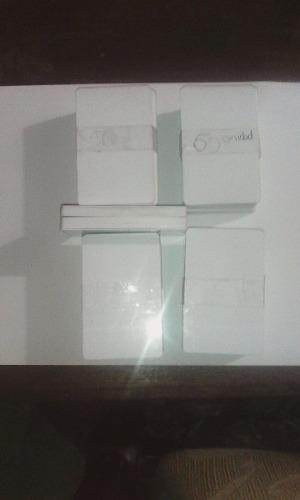 Carnets Pvc Blancos Para Impresora Zebra