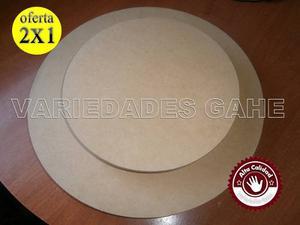 Bases Giratorias Para Tortas Oferta Combo 2x1 40cm Y 25cm