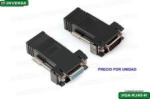 Adaptador Rj-45 A Vga (hembra) Para Extensión Cable Utp