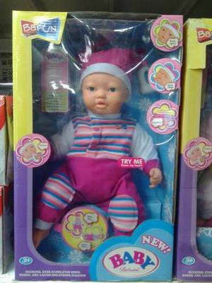 Muñecas Grande Que Llora Y Habla Con Todos Sus Accesorio
