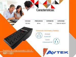 Regulador De Voltaje R8t-va / 600w 8 Tomas Avtek 12