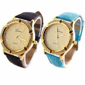 Reloj Geneva Cuero Modelo  Al Mayor Y Al Detal