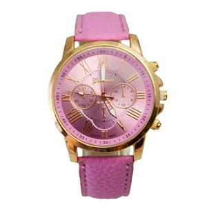 Reloj Geneva Platinum Correa Cuero Sintetico Liquidacion