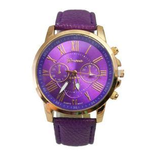 Reloj Geneva Platinum Correa Cuero Sintetico ¡liquidacion!