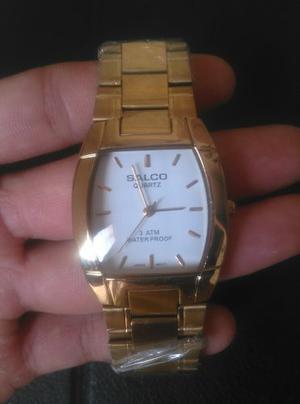 Reloj Salco Dorado Para Caballeros Al Mayor Y Detal