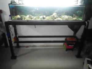 acuario/pecera con todos sus accesorios