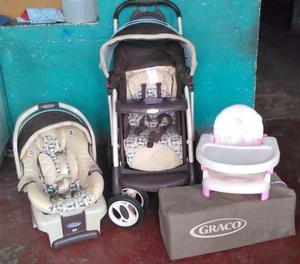 Combo Coche,corral Y Porta Bebe Graco Sistema De Viaje