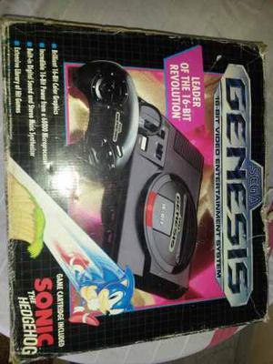 Consola Sega Génesis 1 Juego 1 Control Y Cable De Vídeo