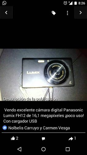 Cámara Panasonic Lumix Fh12 De 16.1 Mp