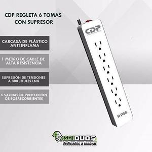Regleta Cdp 6 Tomas/supresor De Picos Cdpr-ps6. ¡¡ Oferta