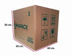 Cajas De Carton 38 X 60 X 50 Cm