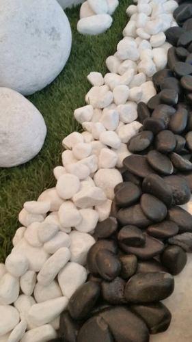 Piedras Blancas Negras Decorativas Bolsa De 5 Kg
