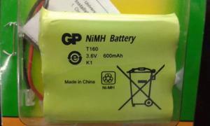 Bateria Aa Recargable 3.6v 600 Mha Gp Telefono Inalambrico