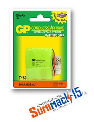 Bateria Telefono Inalambrico T-160 Gp 3.6v 600mah
