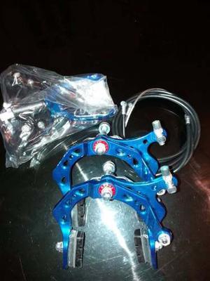 Frenos Para Bicicleta Cross Bmx De Aluminio Perforado