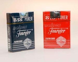 Juego De 2 Masos Cartas De Poker Fournier 818 Roja Y Azul