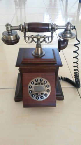 Teléfono Clásico De Madera