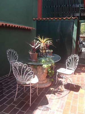 Original Mesa De Jardin O Comedor Base Capitel En Piedra