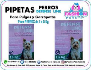 Pipetas Defense Line Para Gatos 1 A 5 Kg