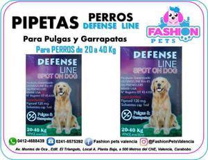 Pipetas Defense Line Para Perros 20 A 40 Kg