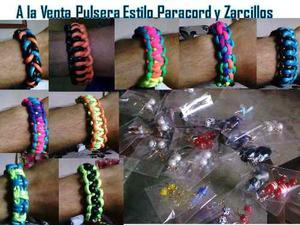 Pulseras Estilo Paracord Y Zarcillos