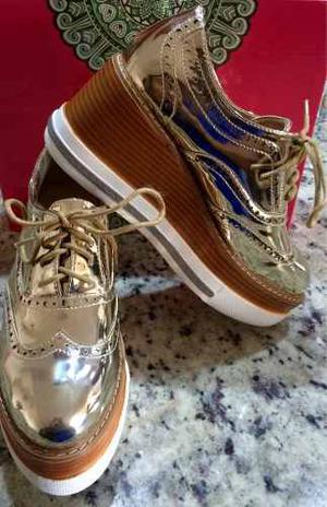Zapato Tipo Oxford Plataforma Importado Usa