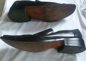 Zapatos De Cuero Negros Y Suela De Cuero Talla 41