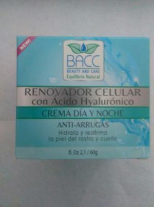 Renovador Celular Bacc Antiarrugas Hyaluron Dia Y Noche