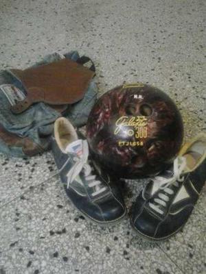 Bola De Bowling Para Zurdo De 6 K. Y Zapatos Frazzani Sport