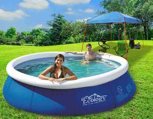 Combo Piscina Inflable Ecology 3.6m + Cobertor +2 Obsequios