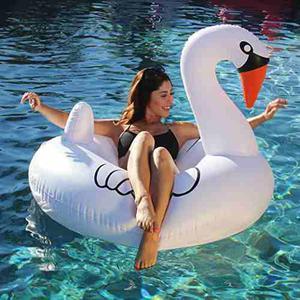 Flotador Inflable Forma Cisne Gigante Blanco