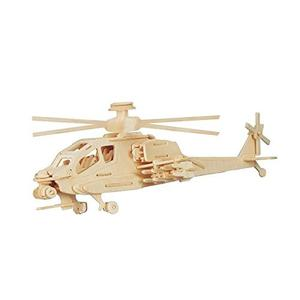 Helicoptero Apache Para Armar De Madera