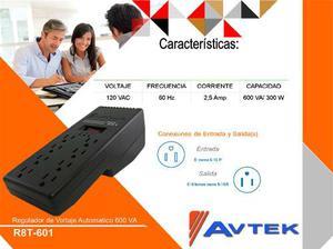 Regulador De Voltaje R8t-va / 300w 8 Tomas Avtek 120