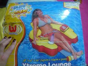 Silla Inflable Para La Piscina Y/o Playa