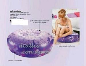 Silla Sillon Sofa Inflable Forma De Anillo Cyzone Oferta