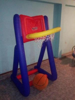 cancha de basquet inflable tamaño familiar nueva de paquete