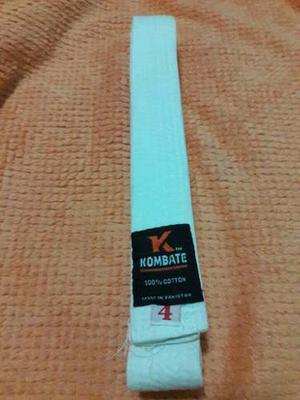 Cinturón De Karate Blanco, Excelente Estado