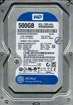 Disco Duro 500 Gb Wester Digital Sata  Rpm Pc Play3 Xbox