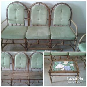 Juego de muebles en rattan posot class for Rattan muebles