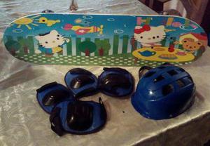 Patineta Para Niños Y Niñas Con Kit De Protección