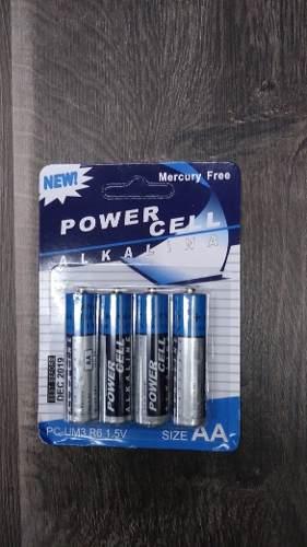 Pila Bateria Aa Power Cell Alkalina. Paquete De 4 Unidades