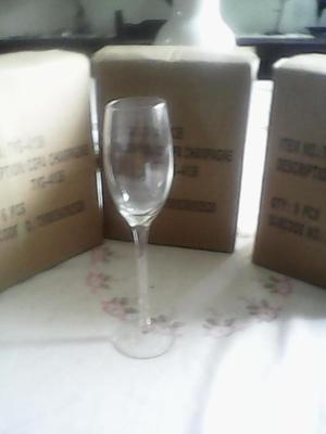 Ventas copas de Champagne de vidrio