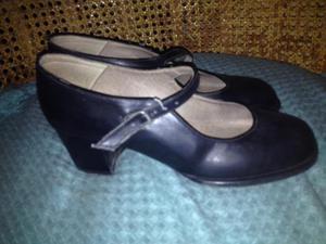 Zapato Para Baile Flamenco O Joropo Negro de niña